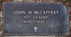 John W McCaffrey
