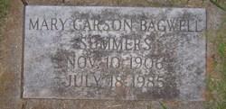 Mary Carson <I>Bagwell</I> Summers