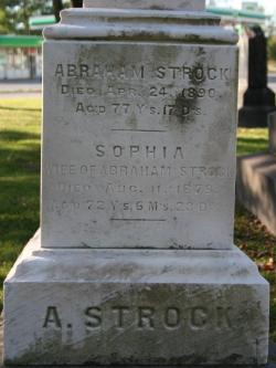 Sophia <I>Wetzell</I> Strock