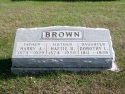 Hattie Belle <I>Hook</I> Brown
