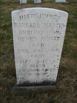 Barbara <I>Martin</I> Horst