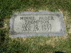 Minnie <I>Huber</I> Thompson