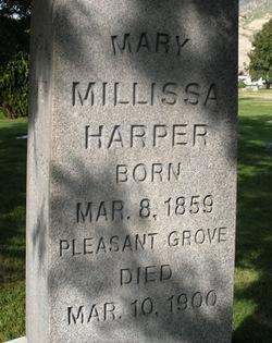 Mary Millissa/Melissa <I>Walker</I> Harper