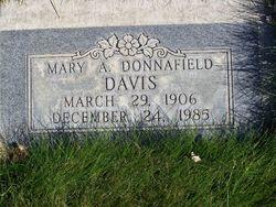 Mary Adeline Allen <I>Donnafield</I> Davis