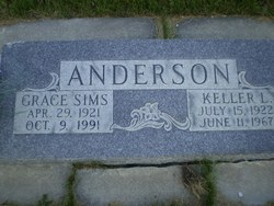 Grace <I>Sims</I> Anderson