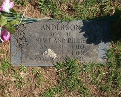 Son of Newt and Dillie Anderson