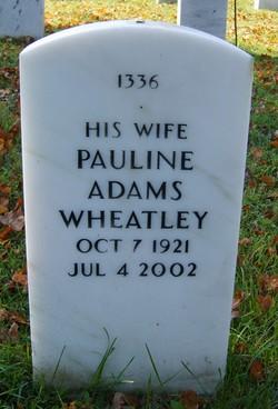 Pauline <I>Adams</I> Wheatley