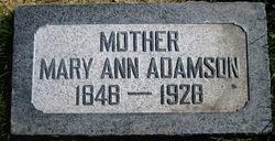 Mary Ann <I>Martin</I> Adamson