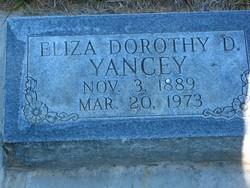 Eliza Dorothy <I>Dean</I> Yancey
