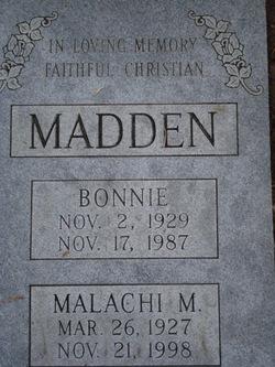 Bonnie Rae <I>Cox</I> Madden