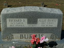 "Alice Jane ""Allie"" <I>Hurst</I> Burris"