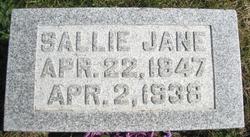 "Sallie Jane ""Sallie"" <I>Bryant</I> Marcum"