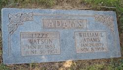 """Elizabeth Debrah """"Lizzie Delilah"""" <I>Watson</I> Adams"""