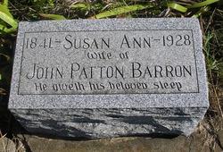 Susan Ann <I>Burris</I> Barron