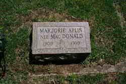 Marjorie A. <I>MacDonald</I> Aplin