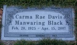 Carma Rae <I>Davis Manwaring</I> Black