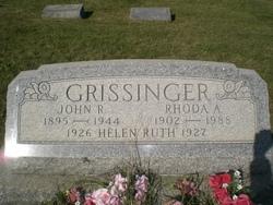 Rhoda Agnes <I>Black</I> Grissinger