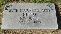 Ruth McGee <I>Stuckey</I> Blakey Hutto