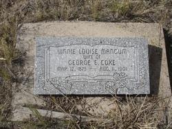 Vinnie Louise <I>Mangum</I> Coxe