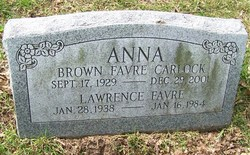 Anna Catherine <I>Brown</I> Carlock