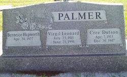 Cree <I>Dutson</I> Palmer