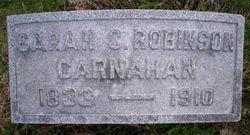 Sarah C <I>Robinson</I> Carnahan