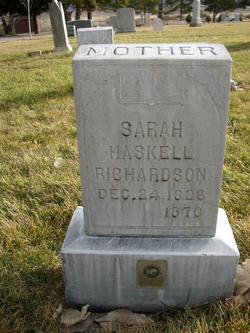 Sarah Elizabeth <I>Haskell</I> Richardson