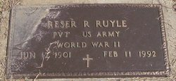 PFC Reser R Ray Ruyle