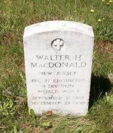 Walter H MacDonald