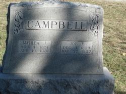 Matilda Josephine <I>Garner</I> Campbell
