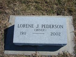 Lorene J. <I>Miner</I> Pederson