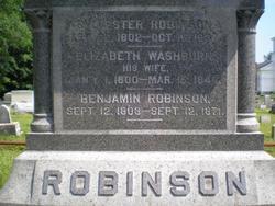 Elizabeth <I>Washburn</I> Robinson