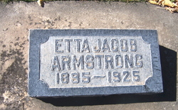 """Etta May """"Lettie"""" <I>Jacob</I> Armstrong"""
