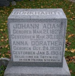 Anna Dorathea <I>Krug</I> Burkhardt