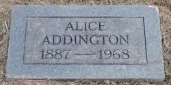 Alice A <I>Wright</I> Addington