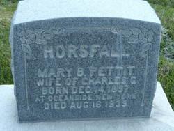 Mary Brower <I>Pettit</I> Horsfall