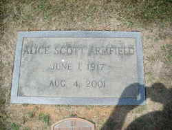 Alice Emeline <I>Scott</I> Armfield