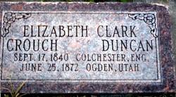 Elizabeth Frances <I>Clark</I> Crouch Duncan