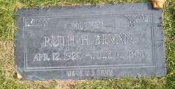 Ruth <I>Hunter</I> Bevan