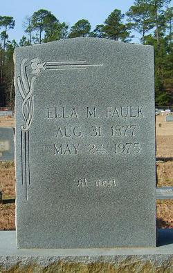 Ella Matilda <I>West</I> Faulk