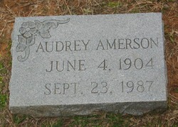 Audrey Florence <I>Grubbs</I> Amerson