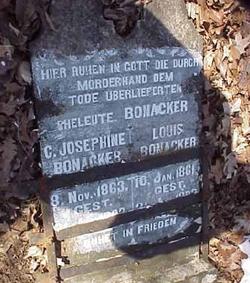 Josephine G. <I>Glatt</I> Bonacker