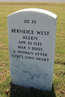 Berneice <I>West</I> Allen