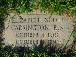 Elizabeth Hughes <I>Scott</I> Carrington