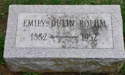 Emma Emily May <I>Dulin</I> Roehm