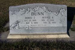 """Lois Winnifred """"Winnie"""" <I>Kearl</I> Dunn"""