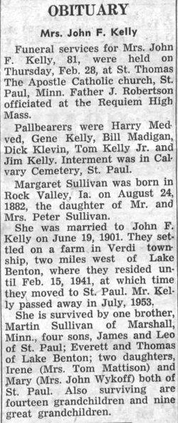 Margaret <I>Sullivan</I> Kelly