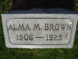 Alma M Brown
