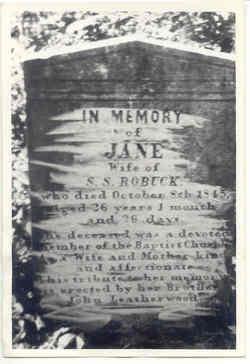 Jane <I>Leatherwood</I> Robuck