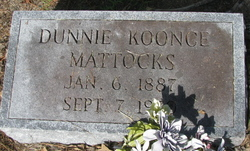 Dunnie Koonce Mattocks